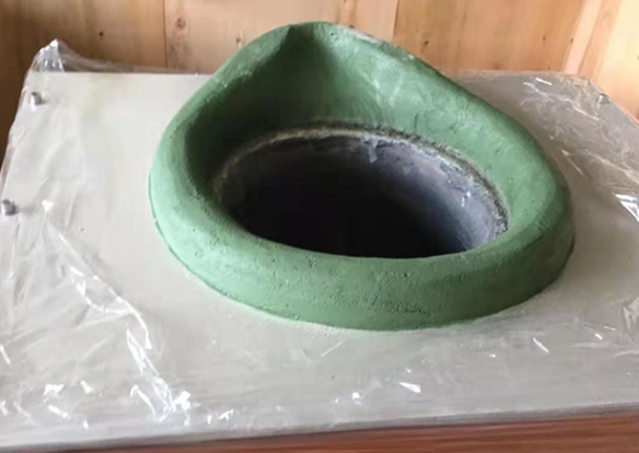 High temperature green mud nozzle material for copper alloy smelting furnace